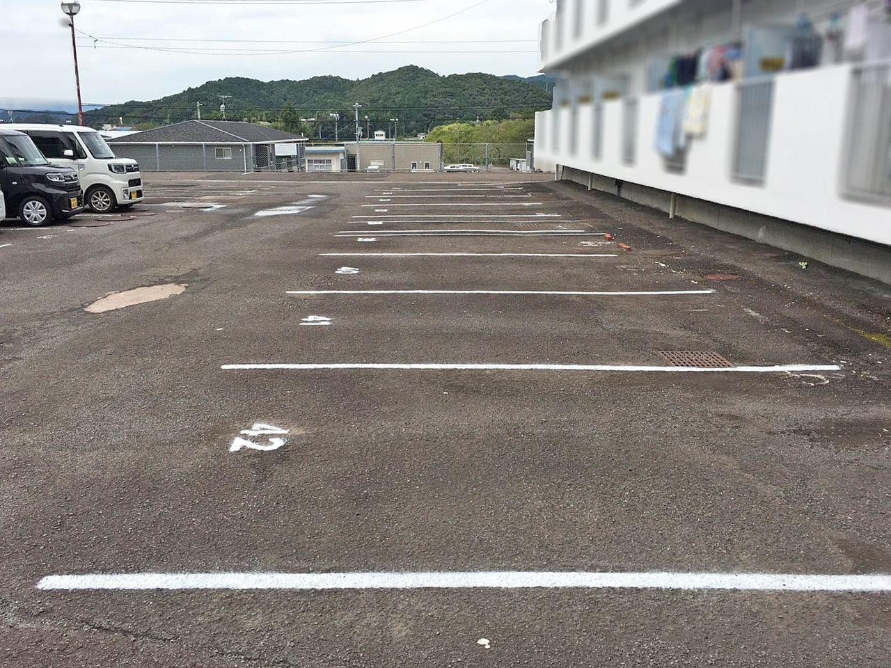 駐車場区画整備