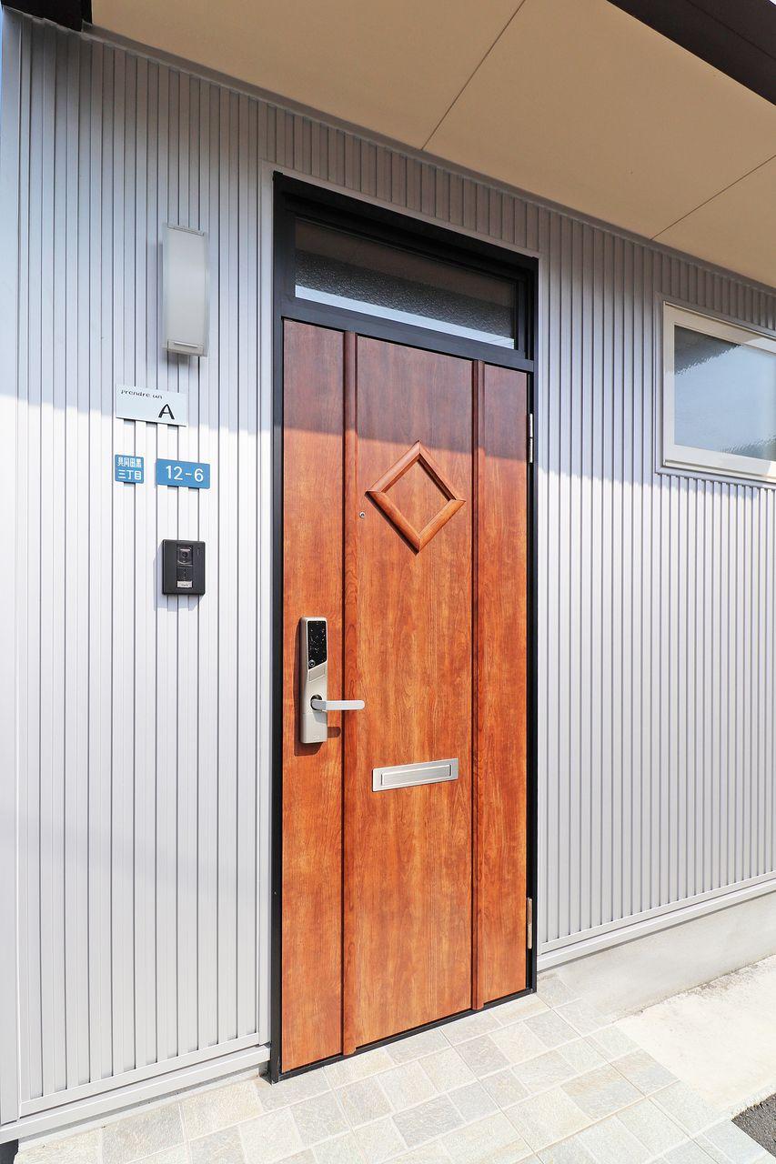 四万十市具同の戸建てプランドール・アンA棟の暗証番号式キーレスロックの画像です