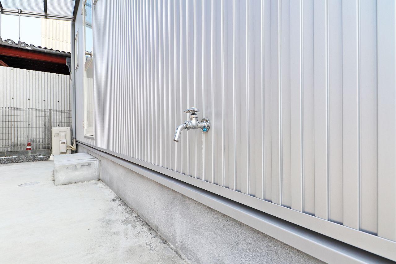 四万十市具同の戸建てプランドール・アンA棟の屋外水栓の画像です