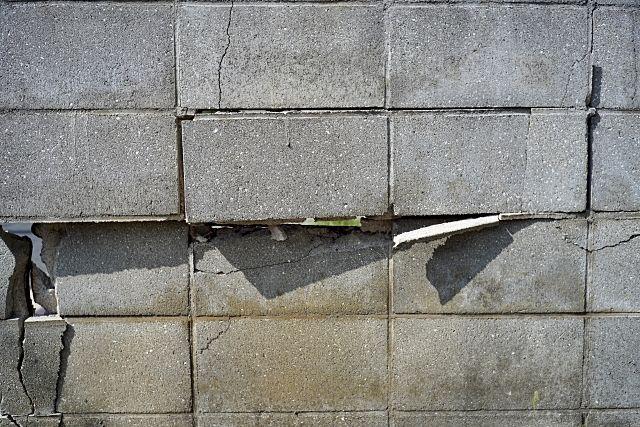 危険性の高いブロック塀
