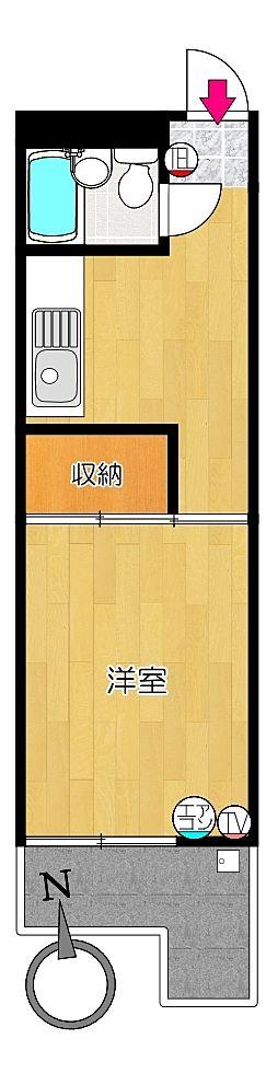 タイガーハイツ25号室の間取り図です