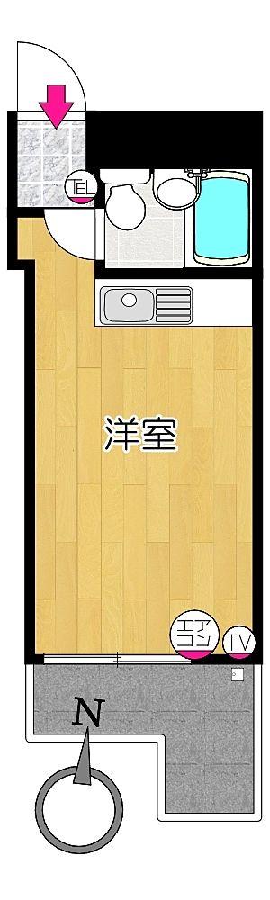 タイガーハイツ13号室の間取り図です