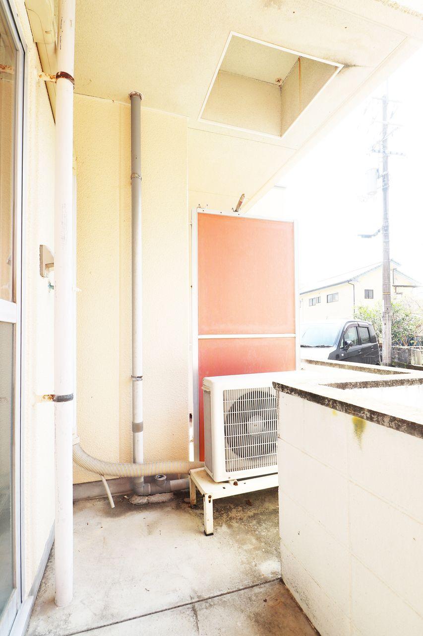 タイガーハイツ13号室のバルコニーの画像です