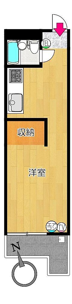 タイガーハイツ37号室の間取り図です