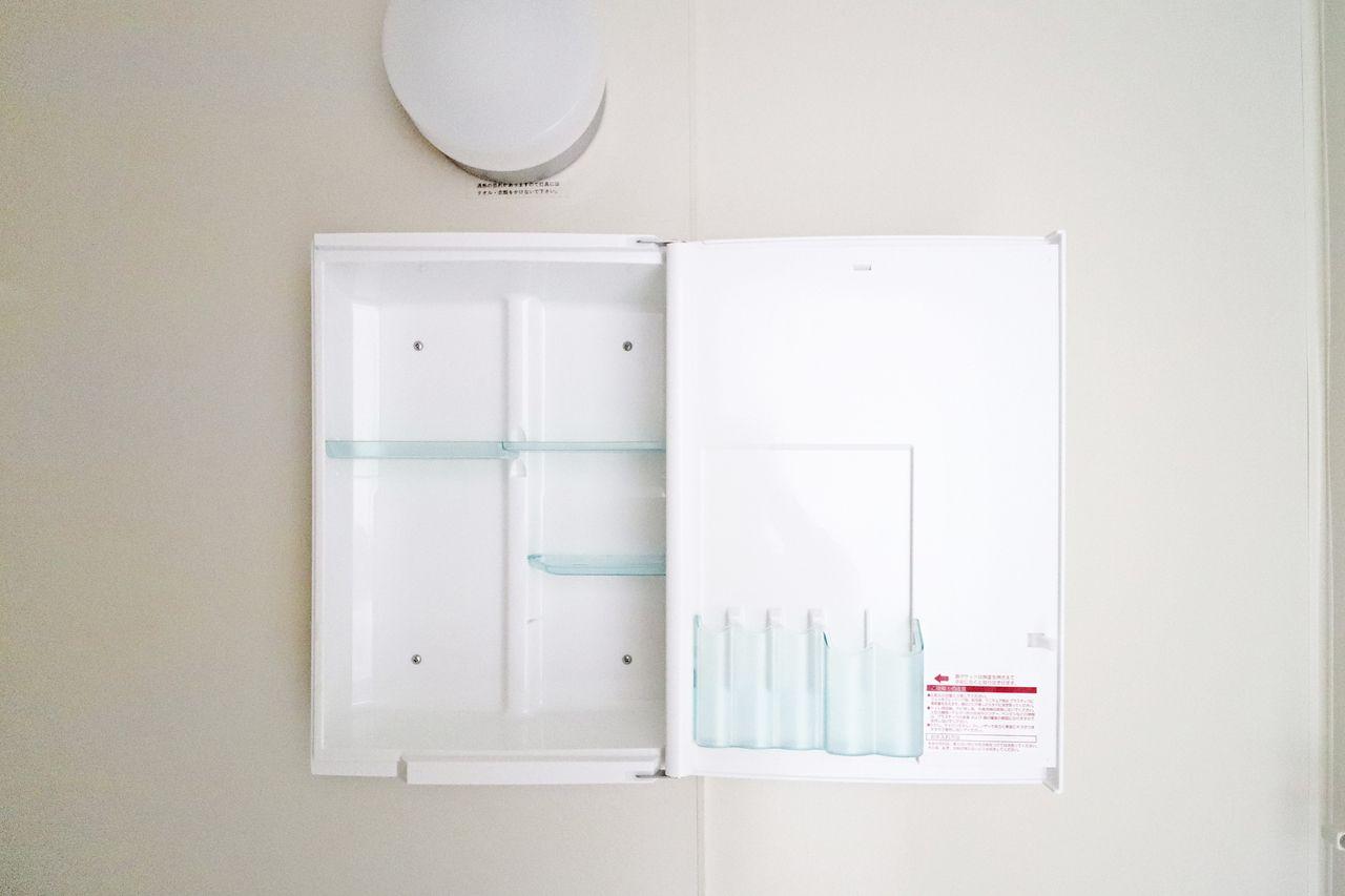 レジデンス今城2号館508号室の洗面台収納の画像です