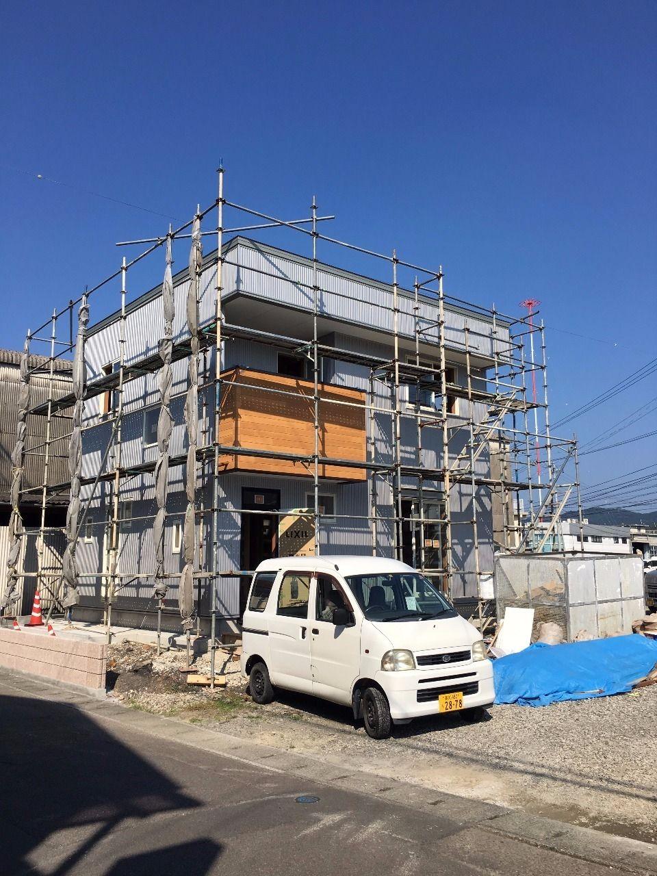 四万十市具同田黒の新築戸建賃貸、A棟がだいぶできてきましたよ~