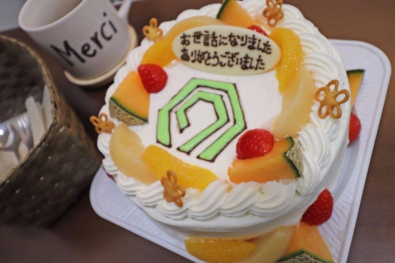 わざわざヤマモト地所のロゴマークでケーキをプレゼントしてくださいました