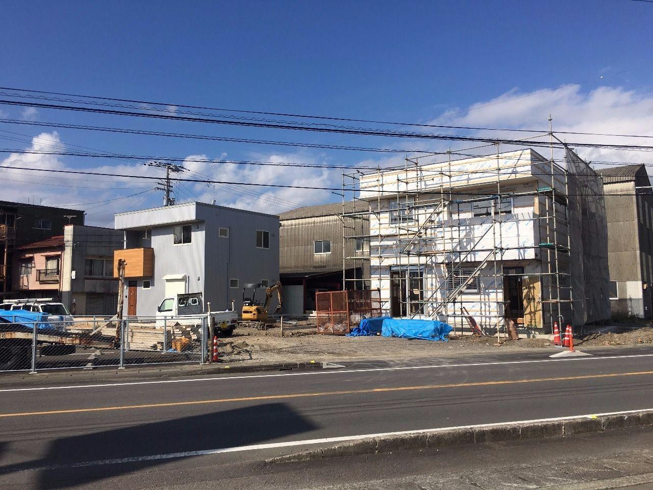 新築貸家の3棟中1棟目がほぼ完成しました(四万十市具同田黒)