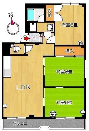 301号室間取り図