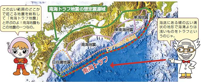 四万十市 南海トラフ地震想定震源域