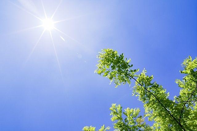 夏の空と強い紫外線