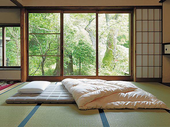 畳が柔らかいので、布団1枚で快適な睡眠がとれます